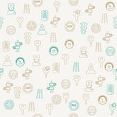 Traffic icons seamless pattern — Stock Vector