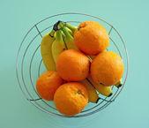 Orange and banana — Stock Photo