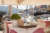 Greek taverna — Stock Photo