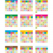 Kids calendar for 2013 — Stock Vector