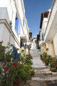 Skopelos street stairs — Stock Photo