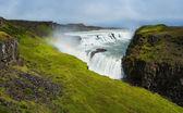 Waterfall Gullfoss. Iceland — Stock Photo