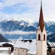 Church in the austrian alps — Stock Photo