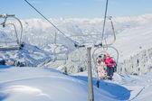 Estância de esqui na áustria — Foto Stock