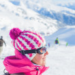 Happy skiers — Stock fotografie