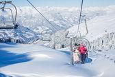 Skigebiet in österreich — Stockfoto