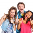 Three young teenagers — Stock Photo