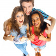 Stock Photo: Three young teenagers