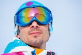 Portrait of the ski goggles — Stock Photo