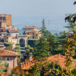 Cityscape of typical Tuscan town - Stock Photo