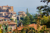 Cityscape of typical Tuscan town — Stock Photo