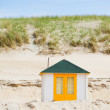 House on the beach with blue sky — Stock Photo #14359709