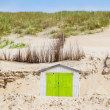 House on the beach with blue sky — Stock Photo