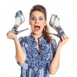 Girl and shoe — Stock Photo #14950311