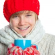 Stock Photo: Portrait of young boy in winter style