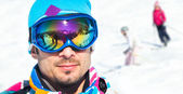 Young man with ski goggles — Stock Photo