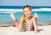 Adorable girl on the beach — Stock Photo