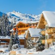 Winter holiday house — Stock Photo