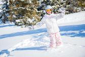 Winter vacation, ski girl — Stock Photo