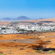 Typical houses on the island of Lanzarote — Stock Photo