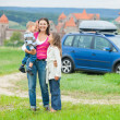 Happy travelers — Stock Photo