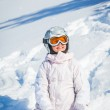 Winter vacation, ski girl — Stock Photo