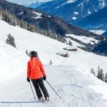 Skiing resort in Austria — Stock Photo