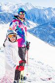 Gelukkig skiër — Stockfoto