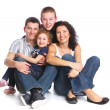 Beautiful happy family — Stock fotografie