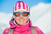 Young woman in a ski wear — Stock Photo