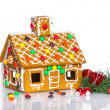 Christmas gingerbread house decoration — Stock Photo