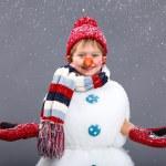 Snowman — Stock Photo #17820751