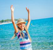 Cutie girl in hat — Stock Photo