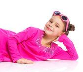 Studio shot of cute little girl — Stock Photo
