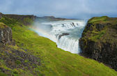 Gullfoss waterfall and rainbow — Stock Photo