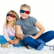 Little Girl With 3D Glasses — Stok fotoğraf