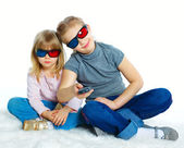 Little Girl With 3D Glasses — Stock Photo