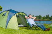 YjhMan Camping — Stock Photo