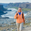 Royalty-Free Stock Photo: Woman Hiker, Iceland