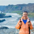 Woman Hiker, Iceland — Stock Photo #21616905