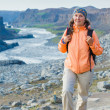 Woman Hiker, Iceland — Stock Photo #21711133