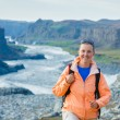 Woman Hiker, Iceland — Stock Photo #21711171
