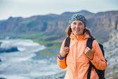 Woman Hiker, Iceland — Stock Photo