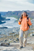 Woman Hiker, Iceland — Stock Photo