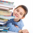 Smart Boy Studying - Stockfoto