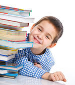 Smart Boy Studying — Stock Photo