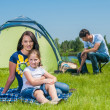 Family camping — Stock Photo #21824461
