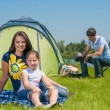 Family camping — Stock Photo #21824477