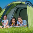 Family camping — Stock Photo #21832285
