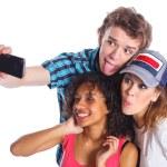 Teenagers taking a self photo — Stock Photo